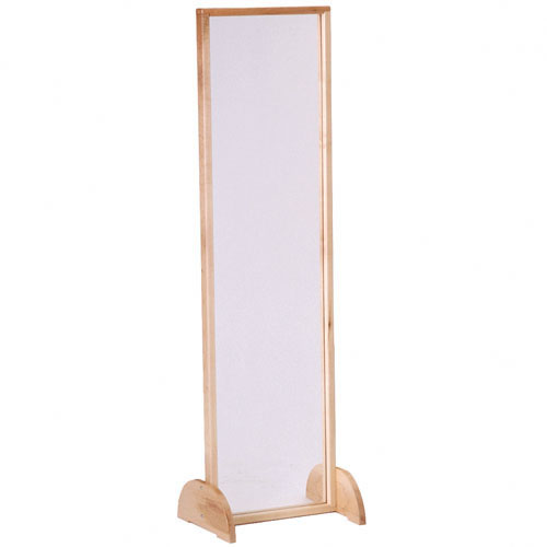 Plexi glass mirror standing for Standing glass mirror