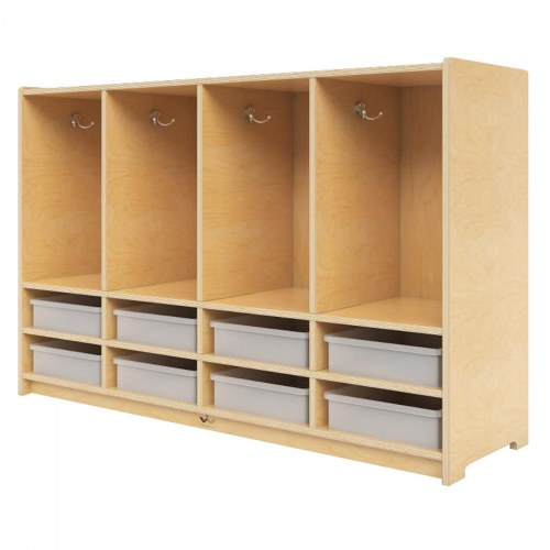 Toddler 8-Section Coat Locker with Trays