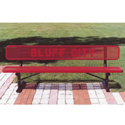 6' Custom Lettered Bench with Back