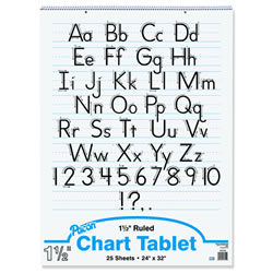 "Flip Chart Tablets 24"" x 32"" 1.5"" Rule - White Paper"