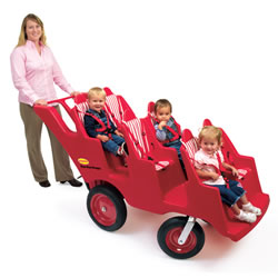 Fat Tire Bye-Bye Buggy 6-Seat - Red