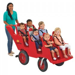 Fat Tire Never Flat Bye-Bye Buggy 6-Seat - Red