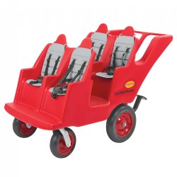 Fat Tire Never Flat 4-Passenger Bye-Bye Buggy - Red