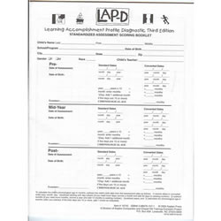LAP™-D, 3rd Edition Bilingual Scoring Booklet - Pack of 20