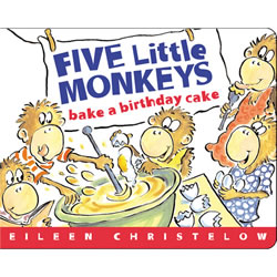 Five Little Monkeys Bake A Cake - Board Book