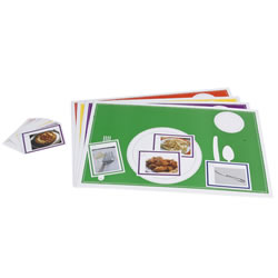 Place Setting With Matching Cards