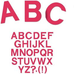 "SureCut Dies - 4"" Block Alphabet Capital Letters Large Dies (Set of 26)"