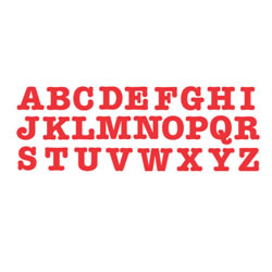 "Bigz Dies - 3 1/2"" Uppercase Letters - Set of 26"