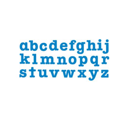 "Bigz Dies - 3 1/2"" Lowercase Letters (Set of 26)"