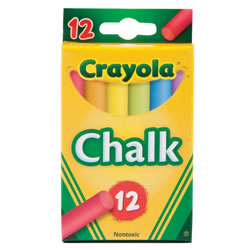 Crayola® 12-Pack Assorted Color Chalk - 12 boxes