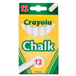 Crayola® 12-Pack White Chalk (12 boxes)