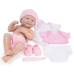 "14"" La Newborn® Deluxe Layette Doll Set - Pink"