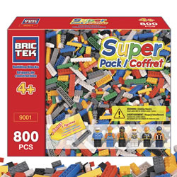 Brictek® Building Bricks Super Pack (800 pieces)
