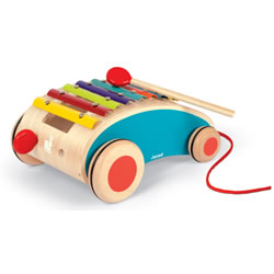 Tatoo Xylo Roller - Musical Wooden Xylophone Pull-Along Toy
