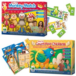 Play It! Monkey Match & Count Your Chickens™ Game Set