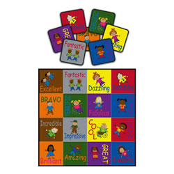 "Cheerful Friends 16"" x 16"" Squares (Set of 16)"