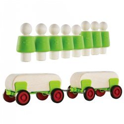 Guidecraft Block Science People & Cars Set