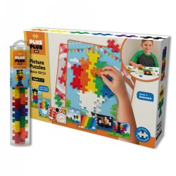 Plus Plus BIG Picture Puzzles & BIG Tube - Basic