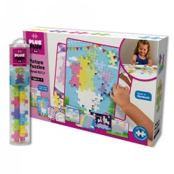 Plus Plus BIG Picture Puzzles & BIG Tube - Pastel