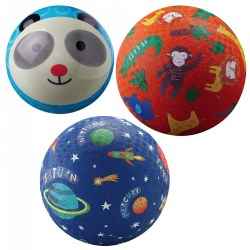 "Colorful 4"" and 7"" Playground & Play Ball - Set of 3"