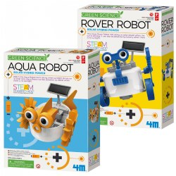 4M Green Science Solar Powered Aqua & Rover STEAM Robots