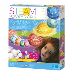 4M STEAM Powered Girls Solar System String Lights