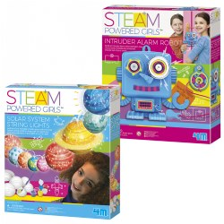 4M STEAM Powered Girls Solar System & Alarm Robot Kit