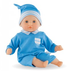 "Mon Premier Bebe Calin Blue 12"" Doll"