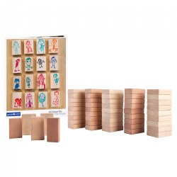 All About Me Block Play People Set - 50 Pieces