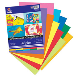 Tagboard Brights Assorted Colors - 50 sheets