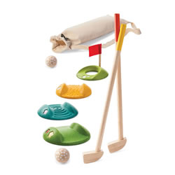 Wooden Mini Golf Full Set with Bag
