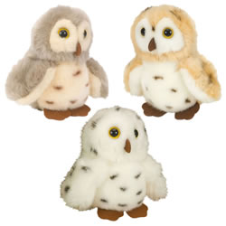 Itsy Bitsies Plush Spotted Owls - Set of 3