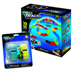 Neo Tracks Flexible Assembly Track System & Extra Cars