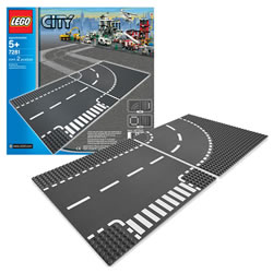 LEGO® City Road T-Junction & Curve (7281)