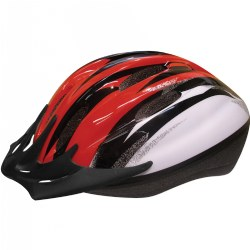 Child's Sporty Bike Safety Helmet Size Medium - Red/Black
