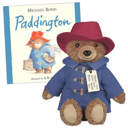 "Paddington Bear 8.5"" Big Screen Plush Bear & Hardcover Book Set"