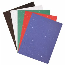 Glitter Construction Paper Pad - 50 Sheets (Assorted Colors)