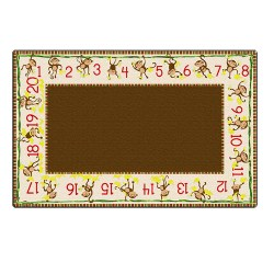 Cushy Tushy™ Counting Monkeys Beige & Brown Carpet 6' x 8'4""
