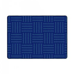 Hashtag Tone on Tone Rug - Blue