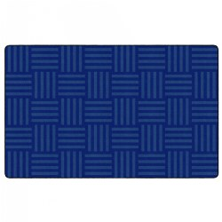 "Hashtag Tone on Tone Rug 7'6"" x 12' - Blue"