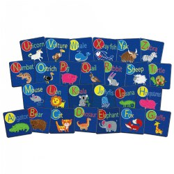 Stow N' Go Alphabet Animals Carpet Squares (Set of 26)