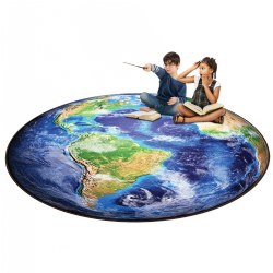 6' Photo-Fun All Around The World Round Rug