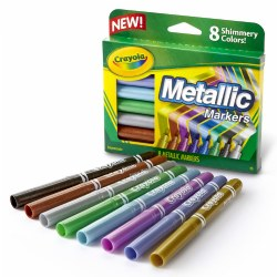 Crayola® 8-Count Metallic Markers