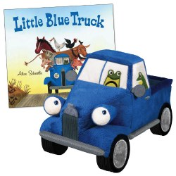 "The Little Blue Truck Board Book & 8.5"" Plush Truck"