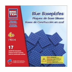 Brictek® Blue Baseplates (17 pieces)