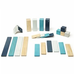 Tegu Blues Magnetic Wooden Blocks (24 Pieces)