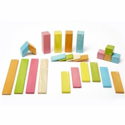 Tegu Tints Magnetic Wooden Blocks (24 Pieces)