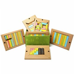 Tegu Magnetic Wooden Blocks Classroom Kit - Tints (130 pieces)