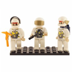 Building Block Mini-Figurines Set - Space Team (Set of 3)