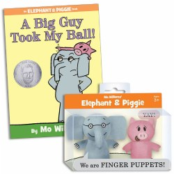 Mo Willems Elephant & Piggie Puppets & Book Set